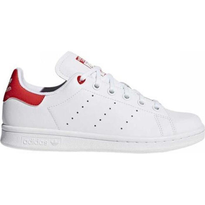 stan smith femme rouge et blanche Adidas original chaussures ...