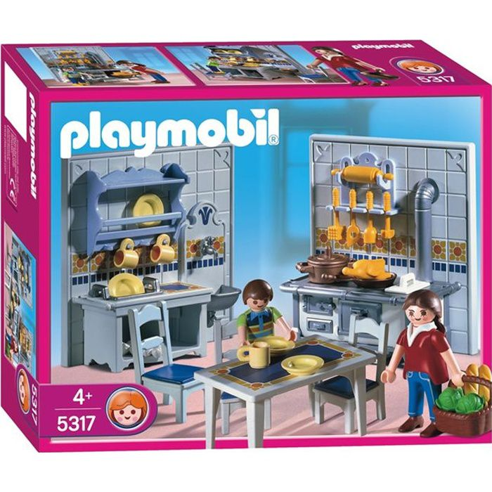 playmobil famille cuisine traditionelle achat vente univers miniature cdiscount. Black Bedroom Furniture Sets. Home Design Ideas