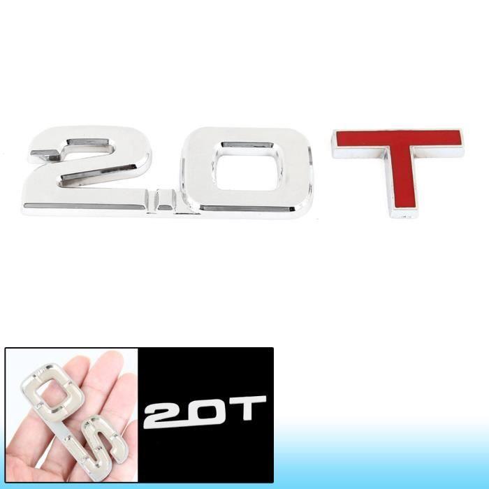 3d Alliage 2 0t Lettres Modèle Véhicule Chrome Badge Décorative Autocollant