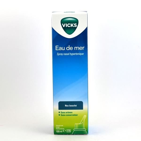 vicks eau de mer spray nasal hypertonique 100 ml achat vente spray nasal vicks eau de mer. Black Bedroom Furniture Sets. Home Design Ideas