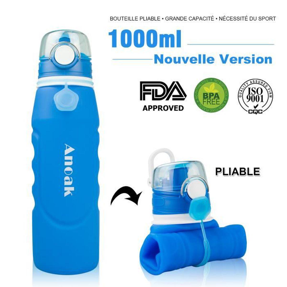 NEUF BOBBLE filtré Bouteille d/'Eau 550 ml-Bpa-Free Violet