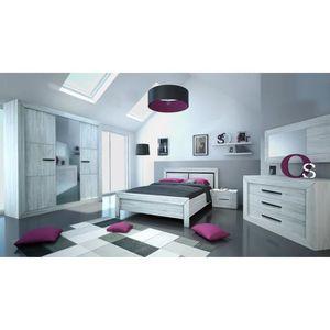 STRUCTURE DE LIT NEVA Lit adulte avec LED contemporain décor gris c