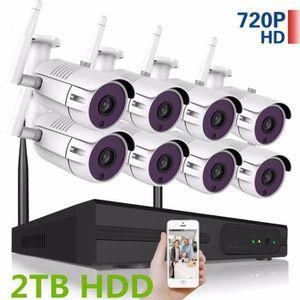 CAMÉRA DE SURVEILLANCE 2 To HDD 8CH système de vidéosurveillance sans fil