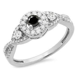 BAGUE - ANNEAU Bague Femme Diamants 0.60 ct  10 ct 471-1000 Or Bl