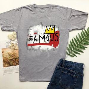 T-SHIRT 1pcs noir t-shirt gris tees Basquiat célèbre T-shi