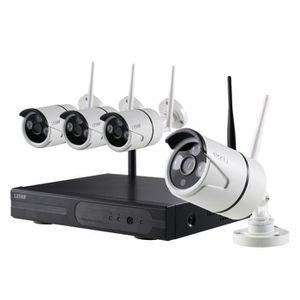 CAMÉRA DE SURVEILLANCE Kit de Surveillance sans Fil 720P 4CH Enregistreur