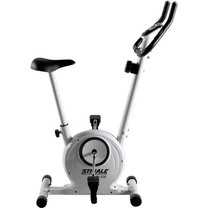 STRIALE Vélo d'Appartement SV-318-7 fonctions-8 niveaux résistance-3 kg inertie-