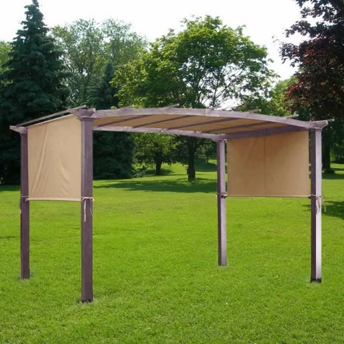 17 * 6,5 pieds anti UV de protection Patio Pergola Remplacement Canopy Couverture extérieur Jardin Jardin Sun Shelt 1BZM61