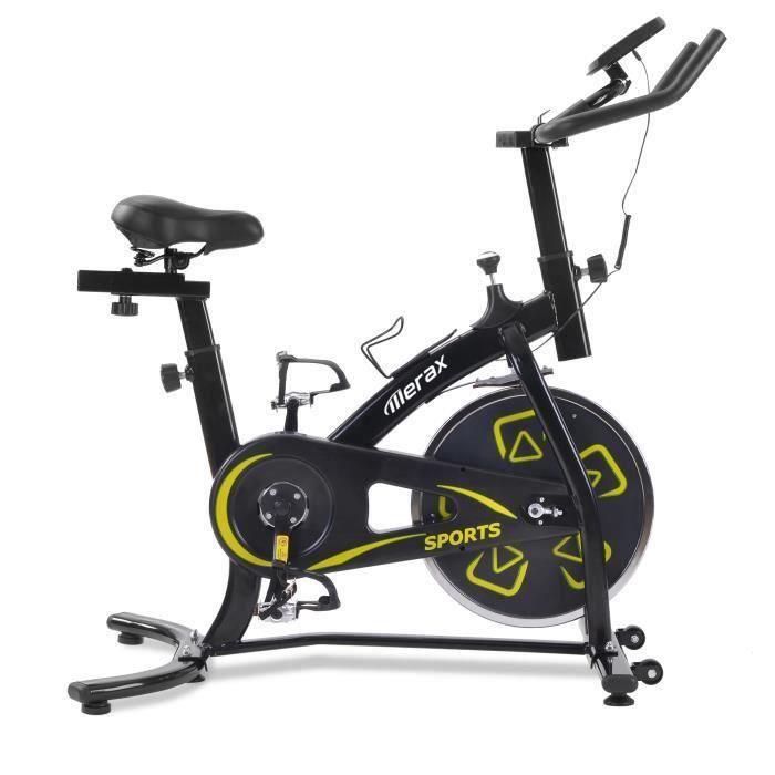 X-Bike Fitness vélo d'exercice aérobie Écran LCD, poignée et siège réglables 100 kg