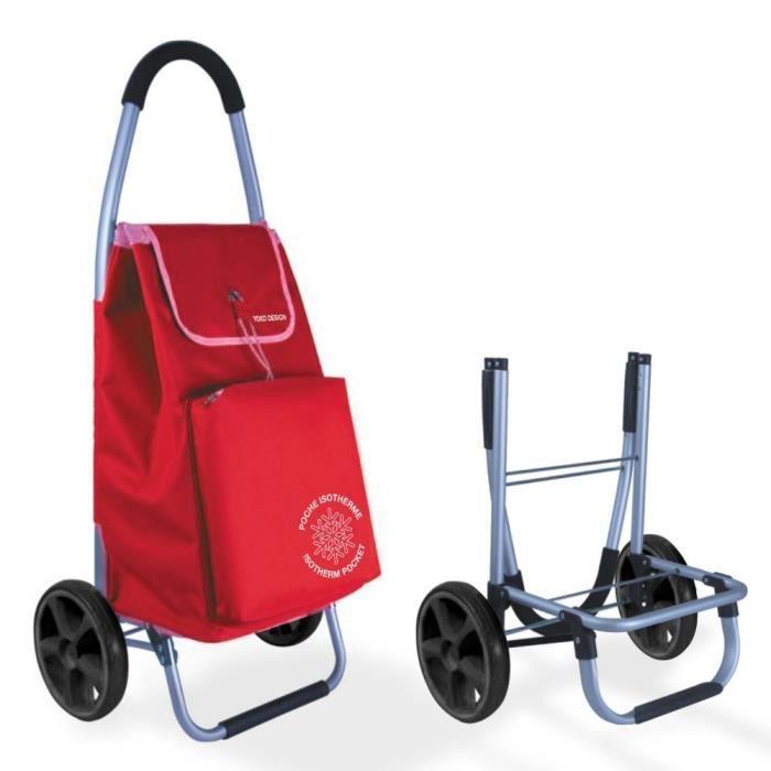 chariot de course Chariot de marche pliable Yoko Design - Rouge