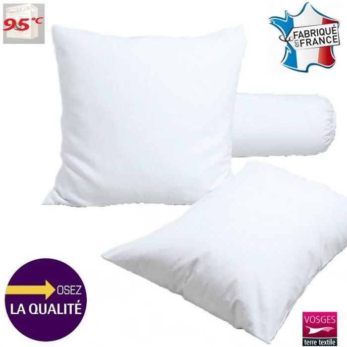 Protège taie carrée 65 x 65 cm molleton 100% coton - Made in France