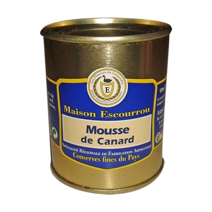 Mousse de Canard parfumée à l'Armagnac une des spécialités de la Maison Escourrou. Servir frois en entrée sur un nide de salade par