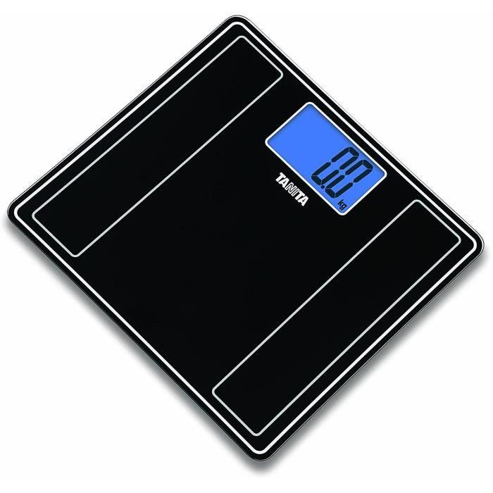 Pèse-personne Tanita - HD-382 BK - Balance Digitale - Verre Ultra Slim - Affichage XXL - Noir Métallisé 586313