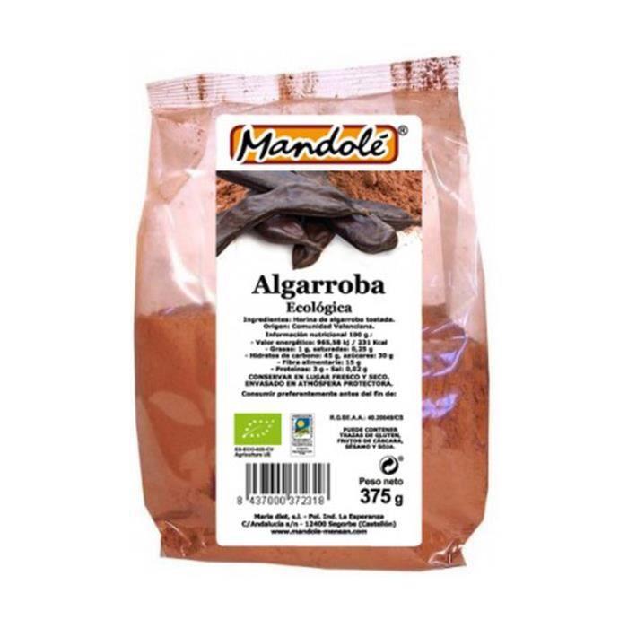 Mandole+Farine de caroube bio 375 g