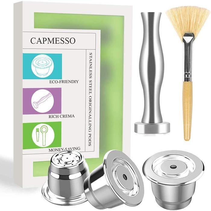 BROSSE ALIMENTAIRE Capsule &agrave caf&eacute r&eacuteutilisables CAPMESSO, capsule rechargeables espresso Capsule r&eacuteu284