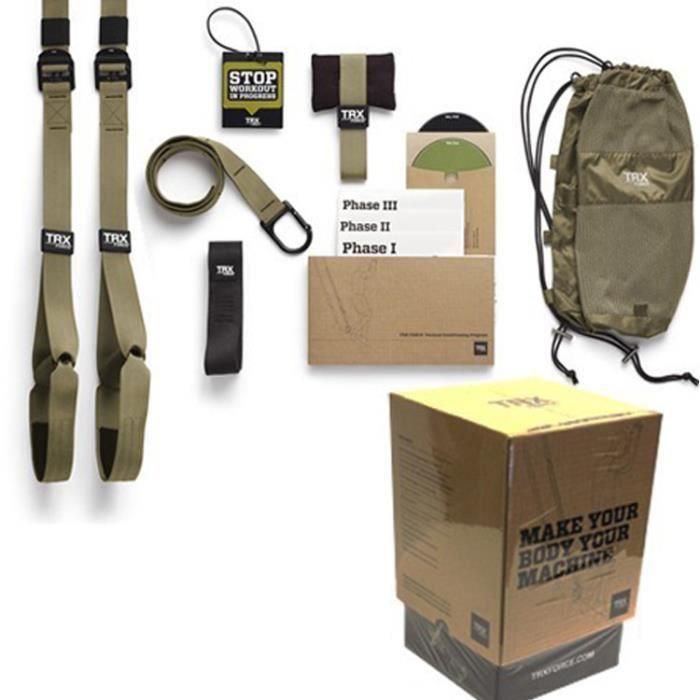 Kit De Suspension Training TRX Tactical - Vert Kaki-noir - TU