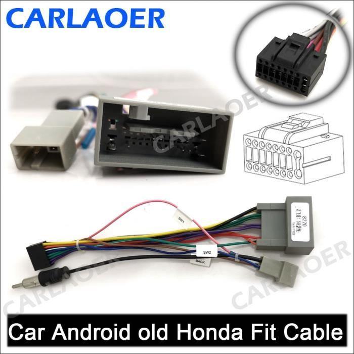Pièces Auto,Câble autoradio 2 din pour voiture, Android, compatible avec l'extérieur, pour Suzuki, Buick, - Type Honda old Fit
