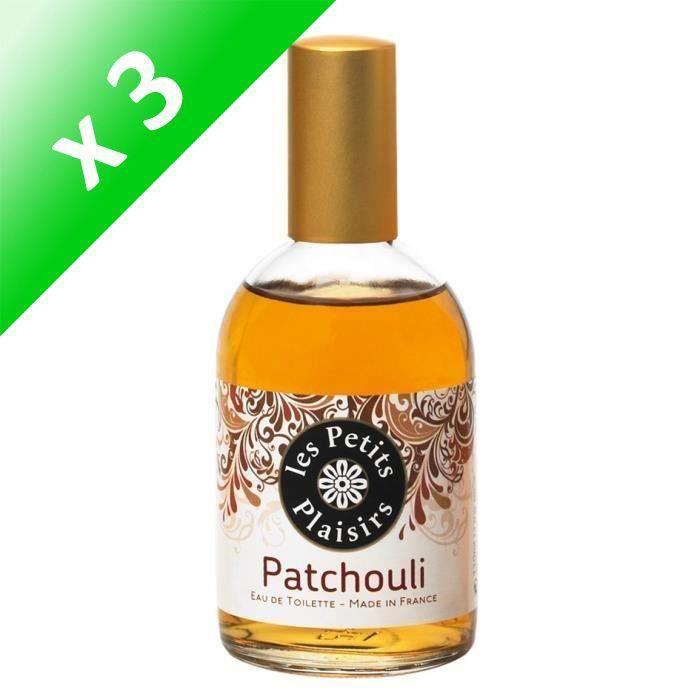 LES PETITS PLAISIRS Eau de toilette - Patchouli - 110ml (Lot de 3)