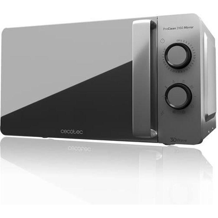 Cecotec ProClean 3160 Revêtement miroir pour un meilleur nettoyage Technologie 3DWave Grill 800 W 20 L Design élégant avec porte mir