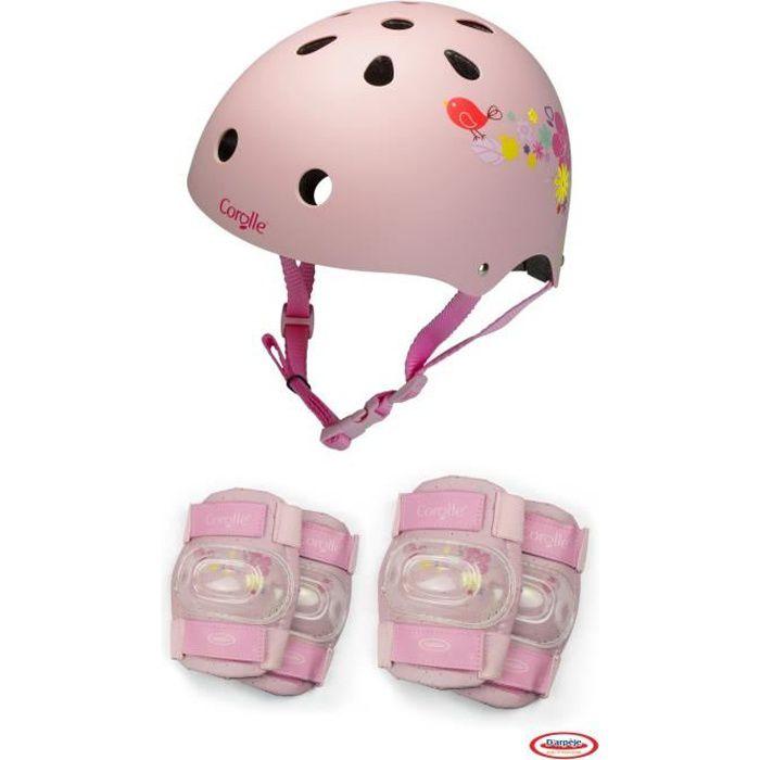 COROLLE - Casque bol + set de protection pour enfant - Taille S