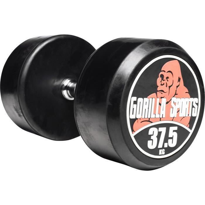 Gorilla Sports - 2,5 kg à 40 kg Dumbbell haltère poids - 37,5 kg