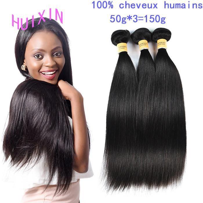 3 pièces Virgin Peru 100% lissage des cheveux 50 - g 12 pouces Straight hair