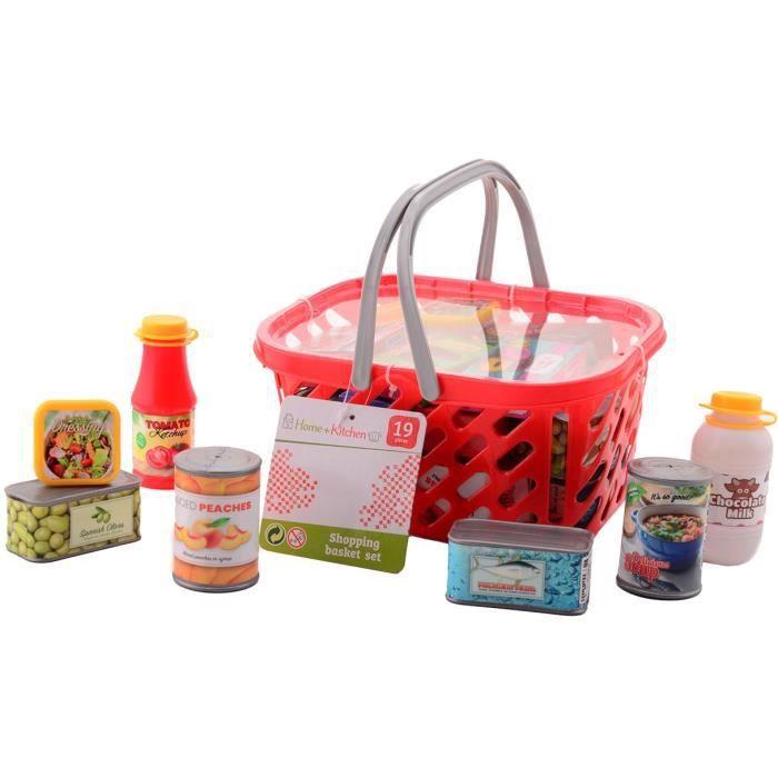 Panier de courses avec produits