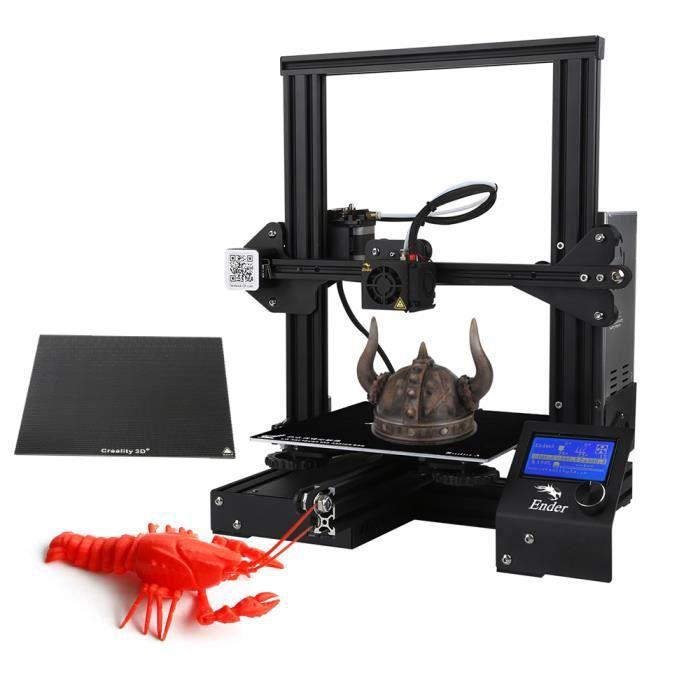 Creality 3D ender 3X Imprimante de bricolage 3D haute précision mise à niveau par auto assembler, taille d'impression 220 * 2 19