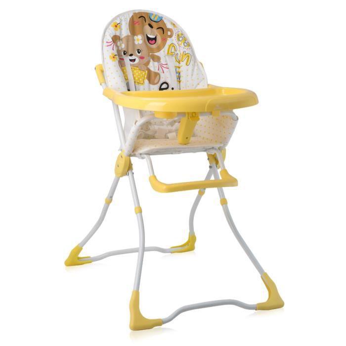 Chaise Haute pour bébé MARCEL Jaune Lorelli