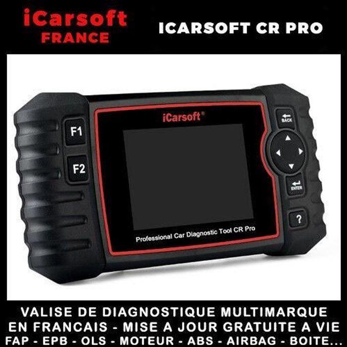 Valise de diagnostique professionnelle AUTHENTIQUE ICARSOFT CR PRO AUTOCOM DELPHI DIAGBOX CAN CLIP
