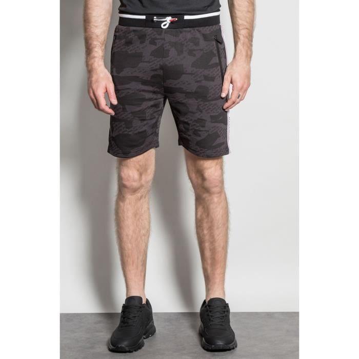 DEELUXE Short de jogging camouflage PROTECT Black