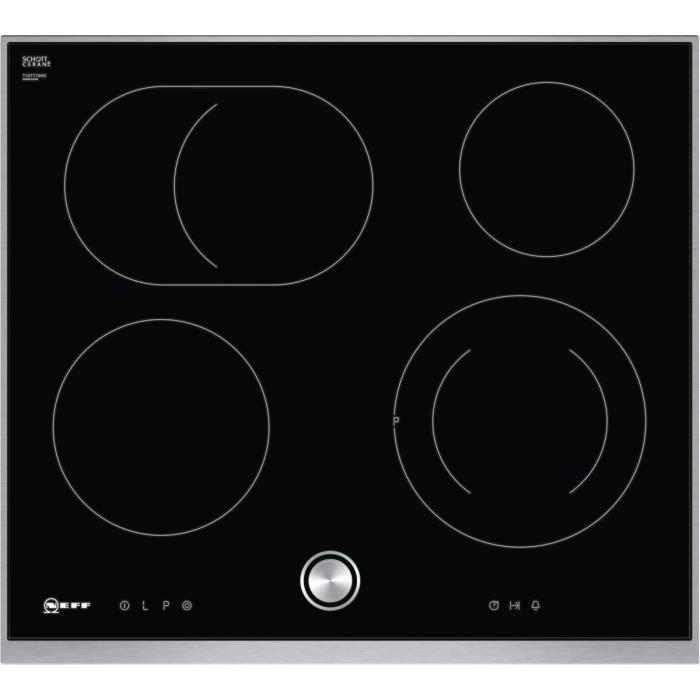 Plaque de cuisson en vitrocéramique Neff T16TT76N0 - Plaque de marque Ceran, 60,60 cm, noire TwistPad cadre design Noir