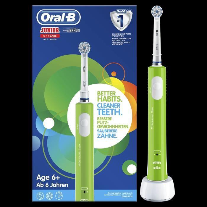 Oral-B Junior 6+ Brosse à dents électrique rechargeable - Vert