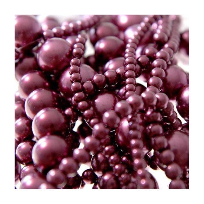 Perles nacrées 10 mm en verre de bohême couleurs vives lot de 20 Bordeaux