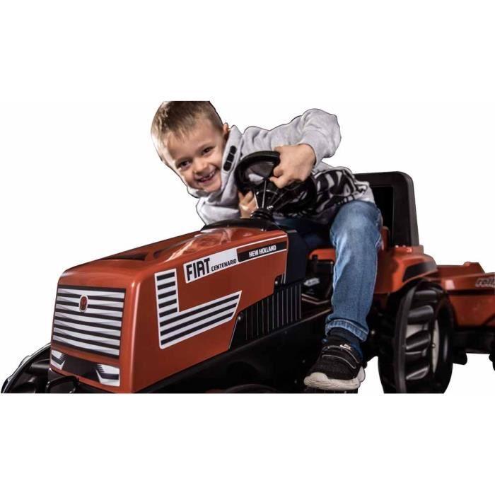 Tracteur à pédales FIAT Centenario avec remorque basculante