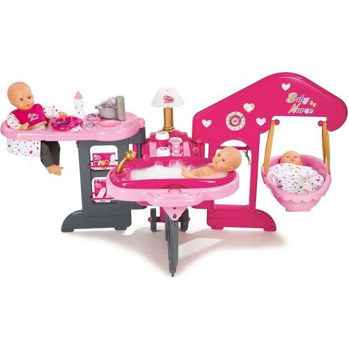 SMOBY Baby Nurse Maison des Bébés + 13 Accessoires