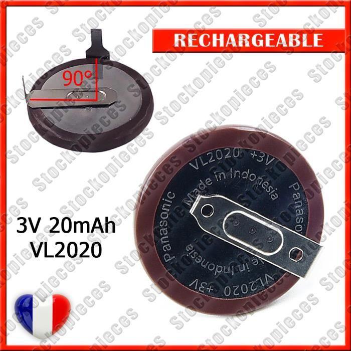 ACCU BATTERIE PILE VL2020 RECHRGEABLE PANASONIC POUR CLES BMW SERIE E X3 X5 X6 3 5 E38 E39 E46 MINI