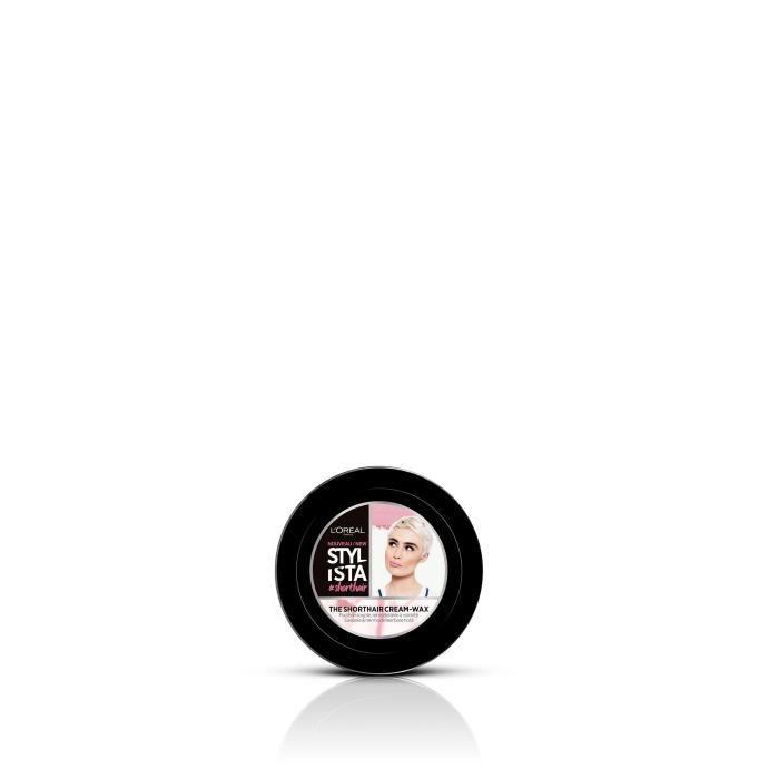 L'OREAL PARIS Stylista Cire-en-crème coiffante cheveux courts The Shorthair - 75 ml - Beige clair