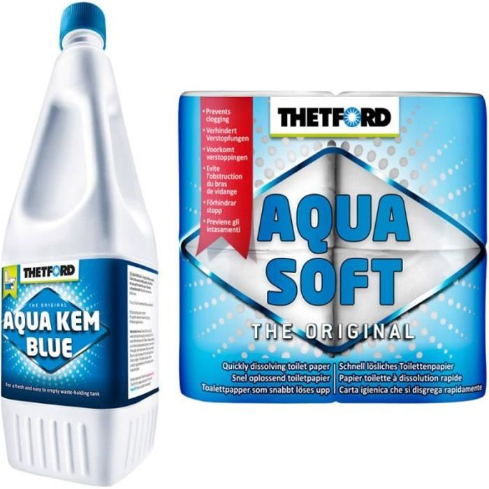 THETFORD lot 2 produits Aqua Soft Aqua Kem Blue