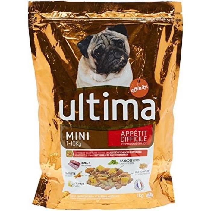 ULTIMA Croquettes bœuf - pour chien - 1KG