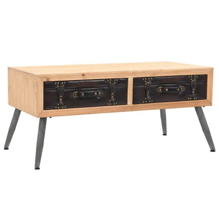 Table basse Bois massif de sapin 115 x 55 x 50 cm - Brun - Meubles/Tables/Consoles/Tables basses - Brun - Brun