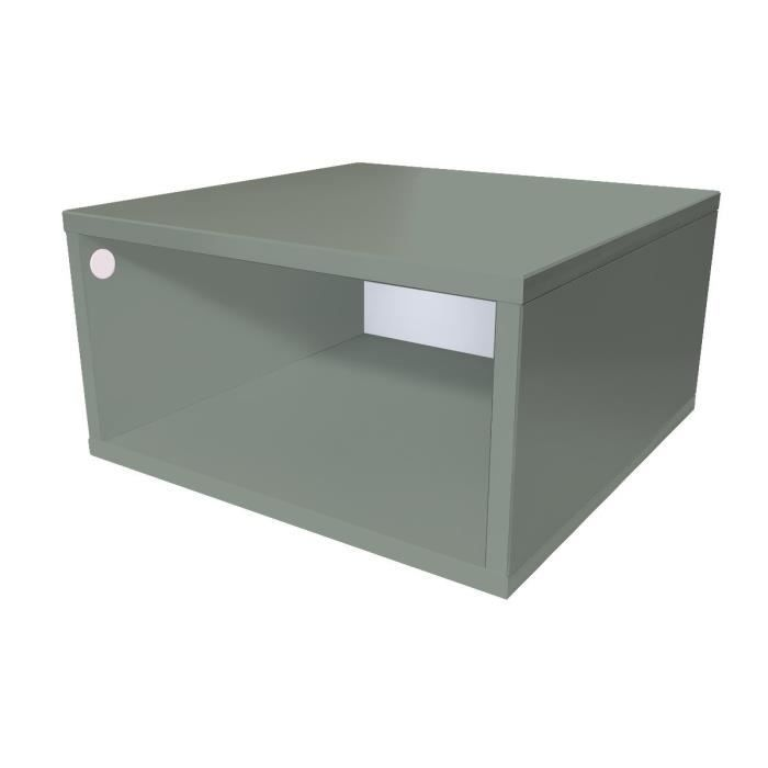 cube de rangement bois largeur 50 cm gris achat vente. Black Bedroom Furniture Sets. Home Design Ideas