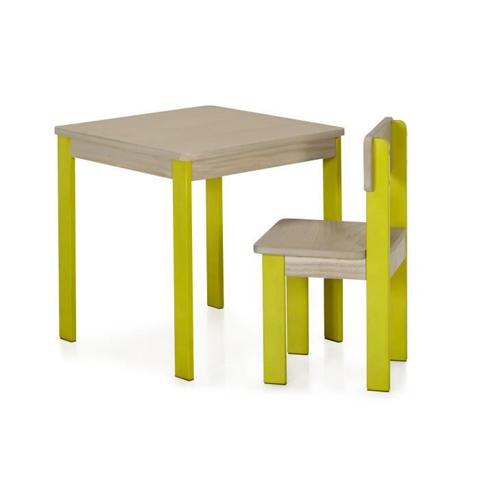 acaya table et chaise verts pour enfant en acacia vert. Black Bedroom Furniture Sets. Home Design Ideas