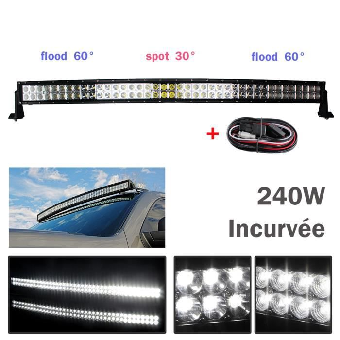 42pouce 240w barre led incurv e rampe offroad tout terrain suv voiture hors route bateau suv - Rampe led voiture ...