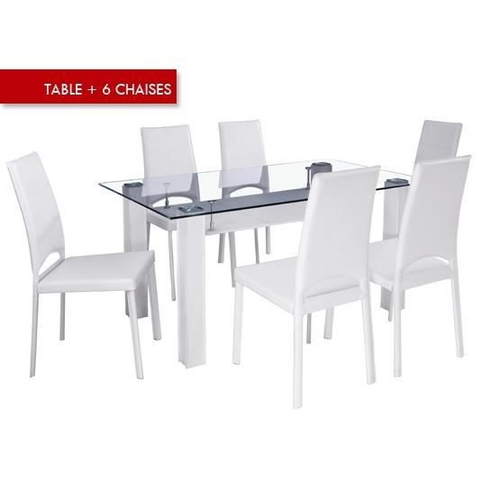 table a manger avec 6 chaises achat vente table a manger seule table a manger avec 6 chais. Black Bedroom Furniture Sets. Home Design Ideas
