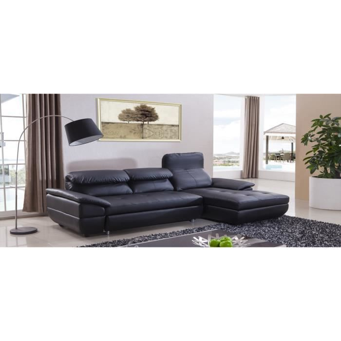 canap d 39 angle droit design achat vente canap sofa divan cuir bois cdiscount. Black Bedroom Furniture Sets. Home Design Ideas