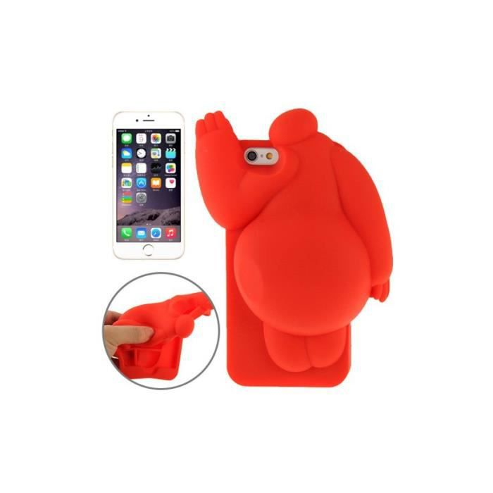 coque iphone 6 6s rouge silicone 3d baymax pattern