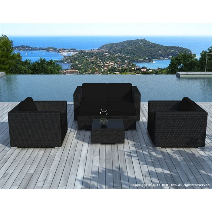 salon de jardin noir. Black Bedroom Furniture Sets. Home Design Ideas