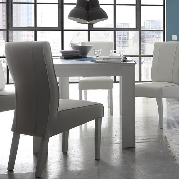 TABLE À MANGER SEULE Table à manger blanc laqué mat design HECTOR L 137