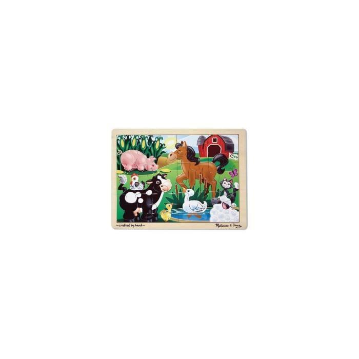 PUZZLE Puzzle En Bois Avec Cadre 12 Pieces - Animaux De L